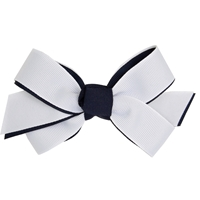 Navy/White Hairbow