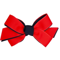 Navy/Red Hairbow