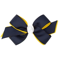 Navy/Gold/White Hairbow