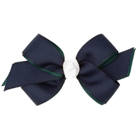 Navy/Green/White Hairbow