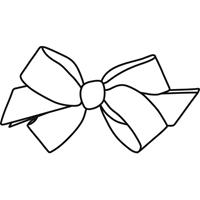 Navy/White Hairbow