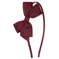 Burgundy Headband With Bow