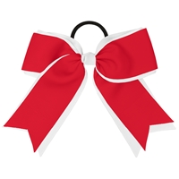 Red & White Hairbow