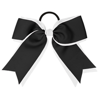Black w/ White Stripes Hairbow