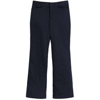Girls Classic Blend Pants-Dk. Navy with School logo