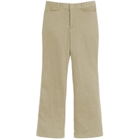 Girls Classic Blend Pants-Khaki with School logo