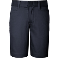 Girls Classic Blend Shorts- Dk. Navy with School logo