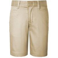Girls Classic Blend Shorts- Khaki with School logo