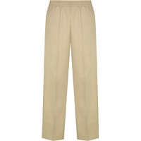 Unisex Pull on Pants-Khaki with School logo