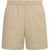 Unisex Pull on Shorts-Khaki with School logo
