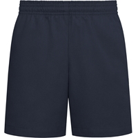 Unisex Pull on Shorts-Navy with School logo