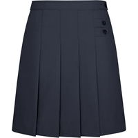 Pleated Tab Skooter-Navy with School logo