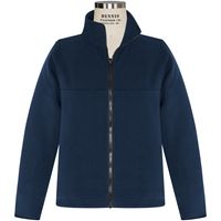 Navy Fleece Jacket with School logo