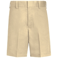 Boys-Classic Blend Shorts-Khaki with School logo