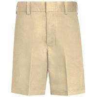 Boys-Classic Blend Shorts-Khaki with School logo