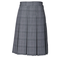 Bradford Plaid Hipstitch Pleated Skirt