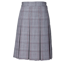 Hanover Plaid Hipstitch Pleated Skirt