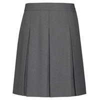 Dark Grey Hipstitch Pleated Skirt