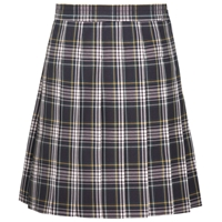 Campbell Plaid Hipstitch Pleated Skirt
