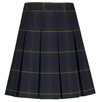 Belair Plaid Hipstitched Pleated Skirt