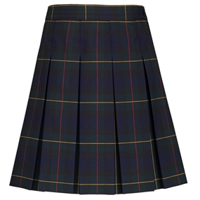 Belair Plaid Hip-Stitched Pleated Skirt