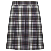 Marymount Plaid Hip-Stitched Pleated Skirt