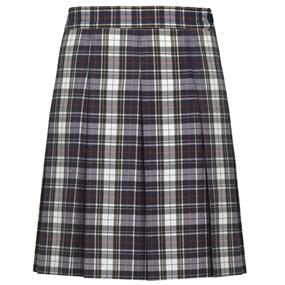 Marymount Plaid Hip-Stitched Pleated Skirt