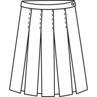Wallingford Plaid Hip-Stitched Pleated Skirt