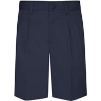 Parker Navy Pleated Front Walk Shorts