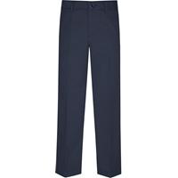 Parker Navy Flat Front Pants