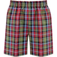 Primrose Plaid Pull-On Walk Shorts
