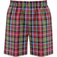 Primrose Plaid Pull-On Walk Shorts
