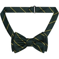 Green w/ Gold Pinstripe Bow Tie
