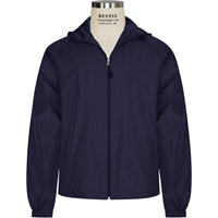 Navy Hooded Jacket with School logo